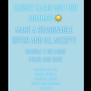 Other - Summer closet clear out☀️☀️